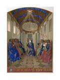 Pentecost, Fouquet Premium Giclee Print by Jean Fouquet