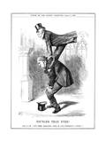 Gladstone Leapfrogs Giclee Print by John Tenniel