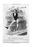 Disraeli, Acrobat, Leotard Giclee Print by John Tenniel