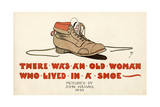 There Was an Old Woman Who Lived in a Shoe Giclee Print by John Hassall