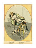 Woman with Dogs 1918 Giclee Print by Jacques Nam