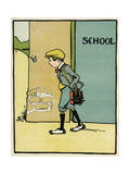 Reluctant Schoolboy Giclee Print by John Hassall