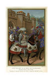 1507 Louis XII in Armour Giclee Print by Jean Marot