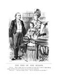 Gladstone as Butler Giclee Print by John Tenniel