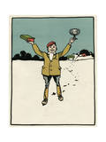 Schoolboy with Prizes Giclee Print by John Hassall