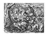 Hunting Deer Giclee Print by Jost Amman