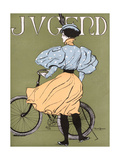 German Lady Cyclist 1896 Giclee Print by Karl Bauer
