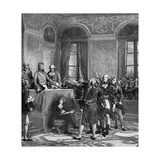 Napoleon Assumes Power Giclee Print by LCA Couder