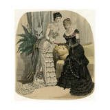 Evening Dress 1882 Giclee Print by Jules David
