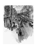 Piccadilly 1888 Giclee Print by Joseph Pennell