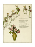 The Wedding Bells -- Bridesmaids with Bouquets Giclee Print by Kate Greenaway