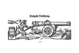 German Cannon Firing 16C Giclee Print by Jost Amman