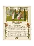 Illustration with Music, a Song of a Doll Premium Giclee Print by Kate Greenaway