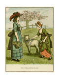 Illustration, the Ungrateful Lamb Giclee Print by Kate Greenaway