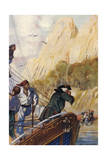 Leaving Treasure Island Giclee Print by John Cameron