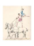 Garnier, Equestian Act Premium Giclee Print by Jules Garnier