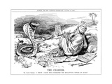 Lloyd George Tries to Charm Unemployment, Cartoon Giclee Print by Leonard Raven-hill