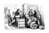 Paris Pawnbroker 1842 Giclee Print by Karl Girardet
