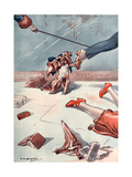 Passers by Tripping over a Dog Lead Giclee Print by L.r. Brightwell