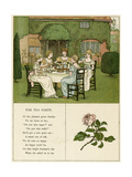 Illustration, the Tea Party Giclee Print by Kate Greenaway