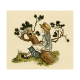 Illustration, the Queen of the Pirate Isle Giclee Print by Kate Greenaway
