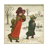 Frontispiece, Kate Greenaway's Birthday Book for Children Giclee Print by Kate Greenaway