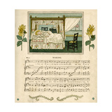 Illustration with Music, Waking Giclee Print by Kate Greenaway