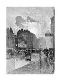 Oxford Street Giclee Print by Joseph Pennell