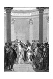 Clovis Baptised (1) Giclee Print by Karl Girardet