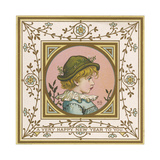 Greenaway Card of 2 Giclee Print by Kate Greenaway