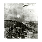 WW1 - German Anti-Aircraft Defences Giclee Print by Max Schmidt