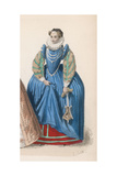 Frenchwoman 1580S Giclee Print by Marie Preval