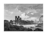 Paris, Seine, Notre Dame Giclee Print