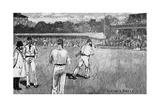 Cricket Match, Mcc V Australia 1884 Giclee Print by Lucien Davis