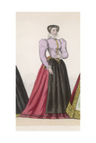 Frenchwoman 1560 Giclee Print by Marie Preval