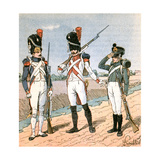 French Infantry Giclee Print by Louis Charles Bombled