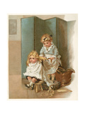 Girl Cuts Hair C1890 Giclee Print by Marie Seymour Lucas