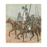 Russian Soldiers Giclee Print by Louis Charles Bombled