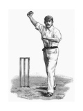 Cricket Bowling an Off-Break Premium Giclee Print by Lucien Davis