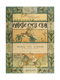 Cycling Fete Poster Giclee Print by Louis Morin