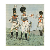 French Soldiers Giclee Print by Louis Charles Bombled