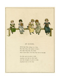 At School Giclee Print by Kate Greenaway