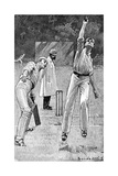 Cricket Caught and Bowled Giclee Print by Lucien Davis