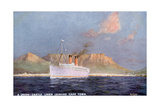 Ship Leaves Capetown Giclée-tryk af Martin Russell