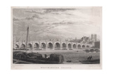 Westminster Bridge 1827 Giclee Print by MJ Starling