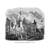 Hamburg Fire 1842 Giclee Print by Magasin Pittoresque