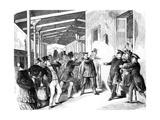 Assassination Attempt on Friedrich Wilhelm IV of Prussia Premium Giclee Print by Neuruppiner Bilderbogen