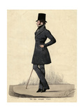 Man in Black 1820s Premium Giclee Print by Richard Dighton