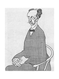 Caricature of Richard Strauss Giclee Print by Olaf Gulbransson