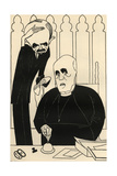 The National Assembly: the Archbishop of Canterbury and Lord Hugh Cecil Gicleetryck av Powys Evans
